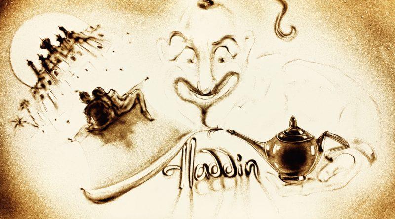 Aladdin & die Wunderlampe - Märchen in Sand gemalt - Elbarkaden Lounge - Hamburg