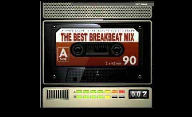Breakbeat inner BB-Kassette mit Text The Best Breakbeat Mix