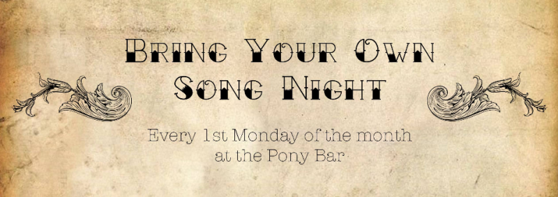 1. April: Bring Your Own Song Night – Pony Bar – 20 Uhr